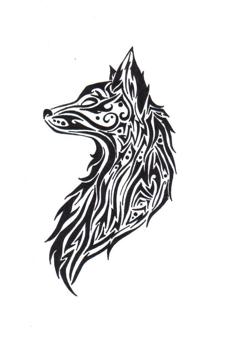 Tribal wolf by TheAnge...