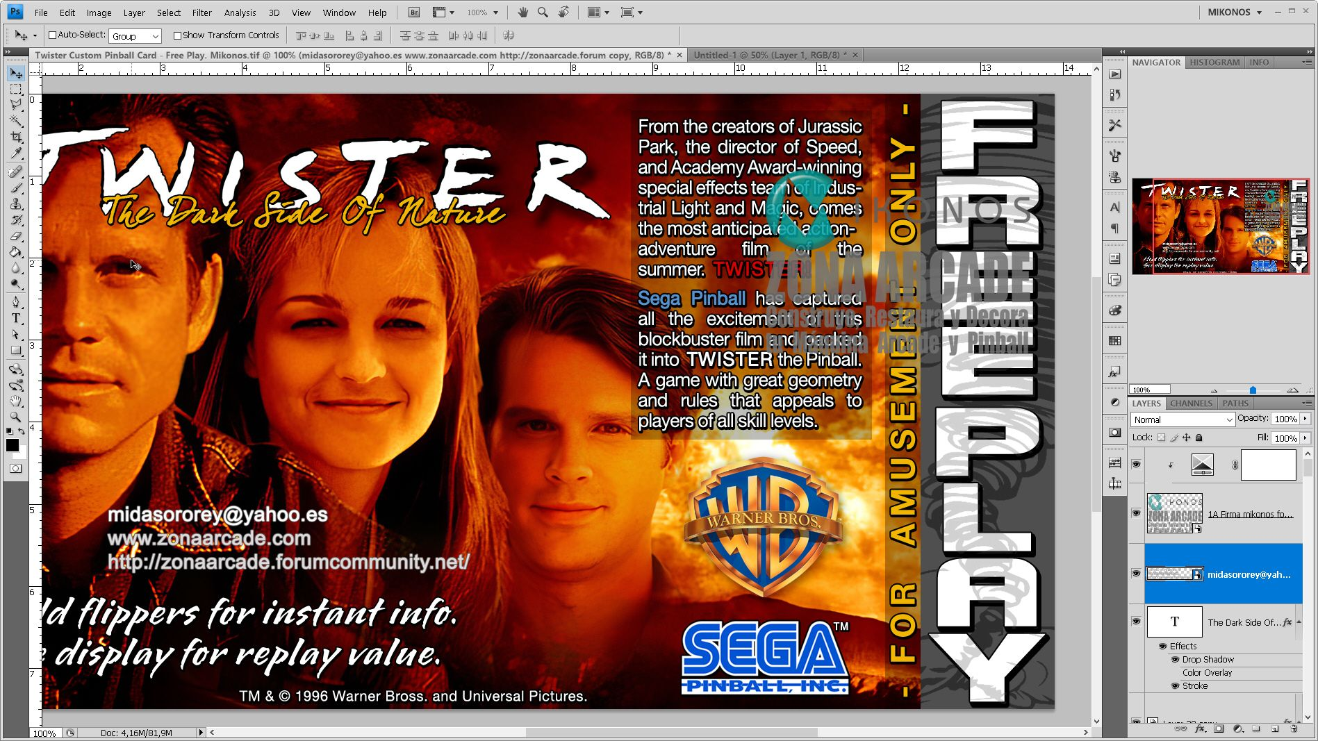 Details In Twister Custom Pinball Card Free Play Sega Designed By Zona Arcade And Mikonos