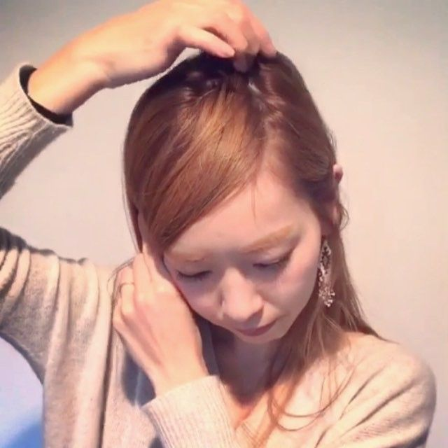 前髪を長く見せるコツ ヘアアレンジの便利帳 P 41 分け方 の動画