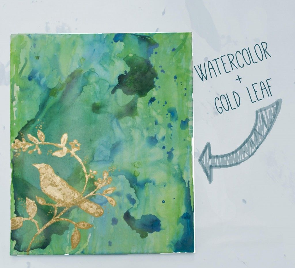 The Finished Watercolor Painting Watercolor Paintings Gold Leaf