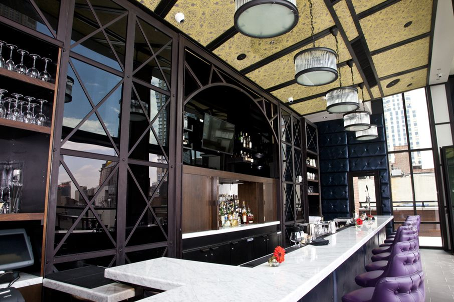 22 stories atop Archer Hotel, Spyglass Rooftop Bar is a