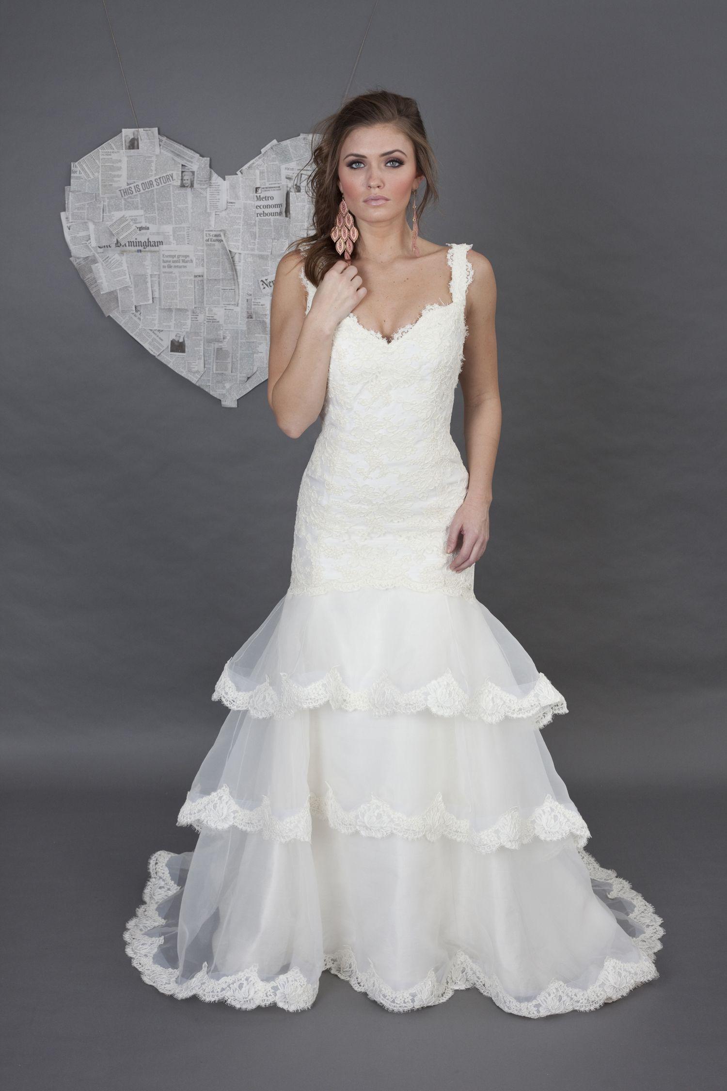 Heidi Elnora Brooke Mason Organza And Lace Wedding Dress I Nordstrom Heidielnora