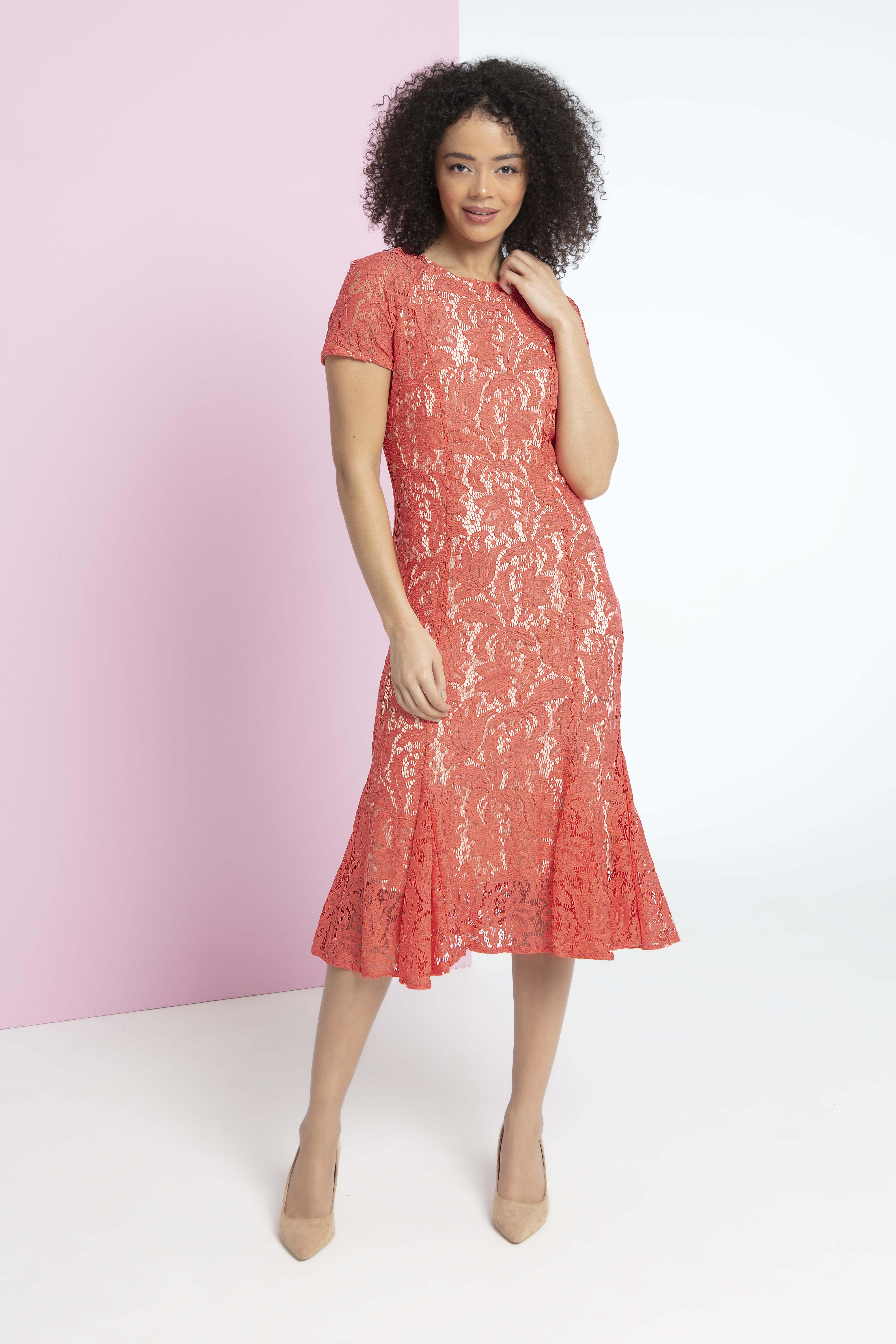 1a663edf9cdf7b Short Sleeve Dresses, Dresses With Sleeves, Short Sleeves, Roman Originals,  Lace Dress