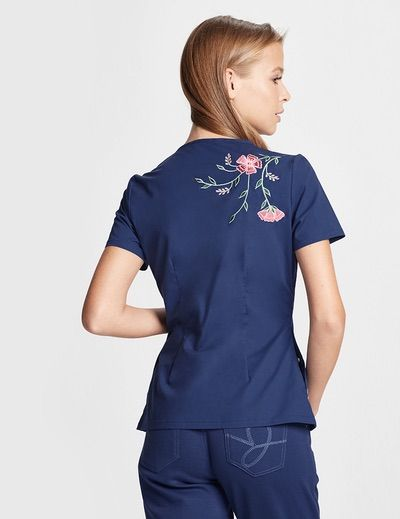The Embroidered Top - Estate Navy Blue. Navy ScrubsScrubs UniformMedical ...