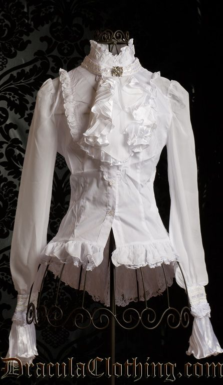 How fun would this be!! Jewelry Cravat Blouse  Draculaclothing.com