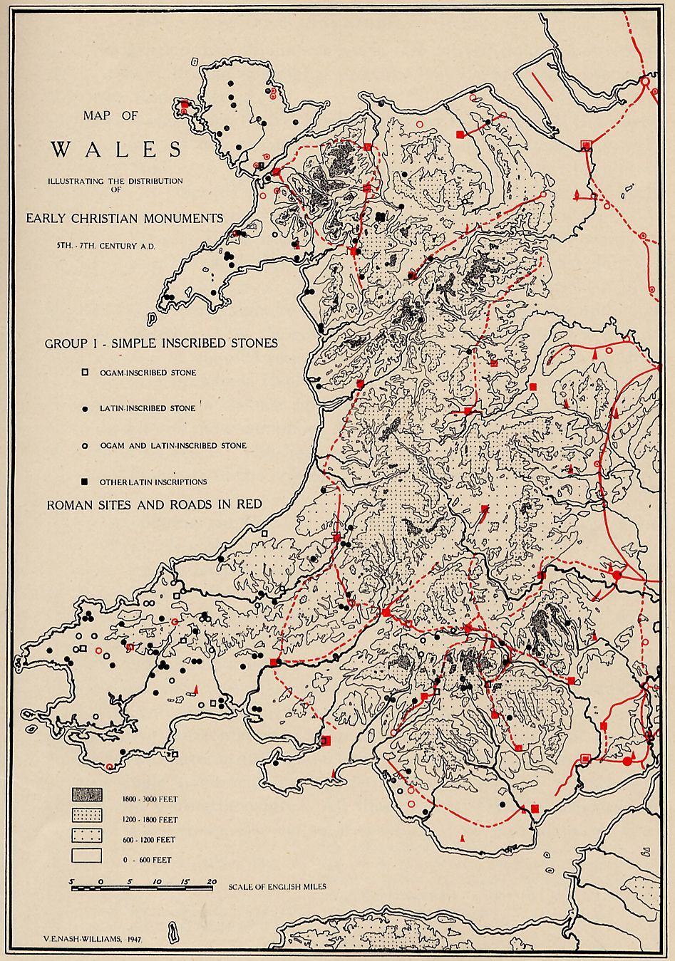 Map of wales illustrating the distribution of early christian map of wales illustrating the distribution of early christian monuments sciox Choice Image