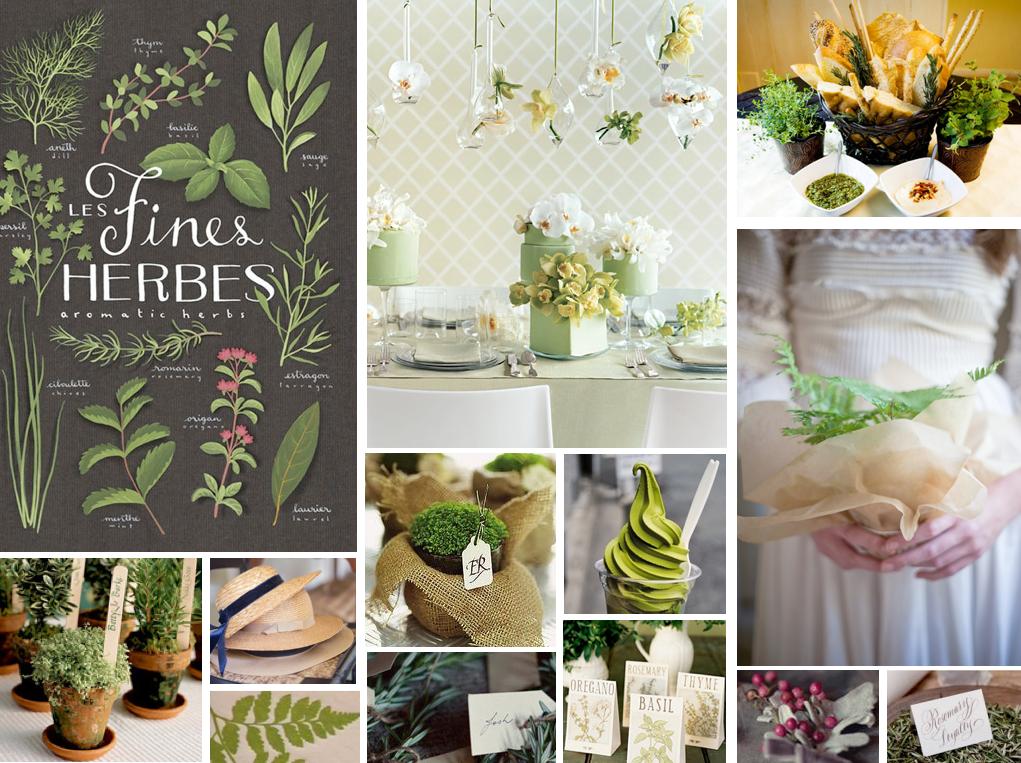 Green herb wedding