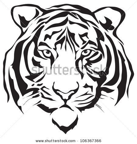 Tiger Tattoo Stencil