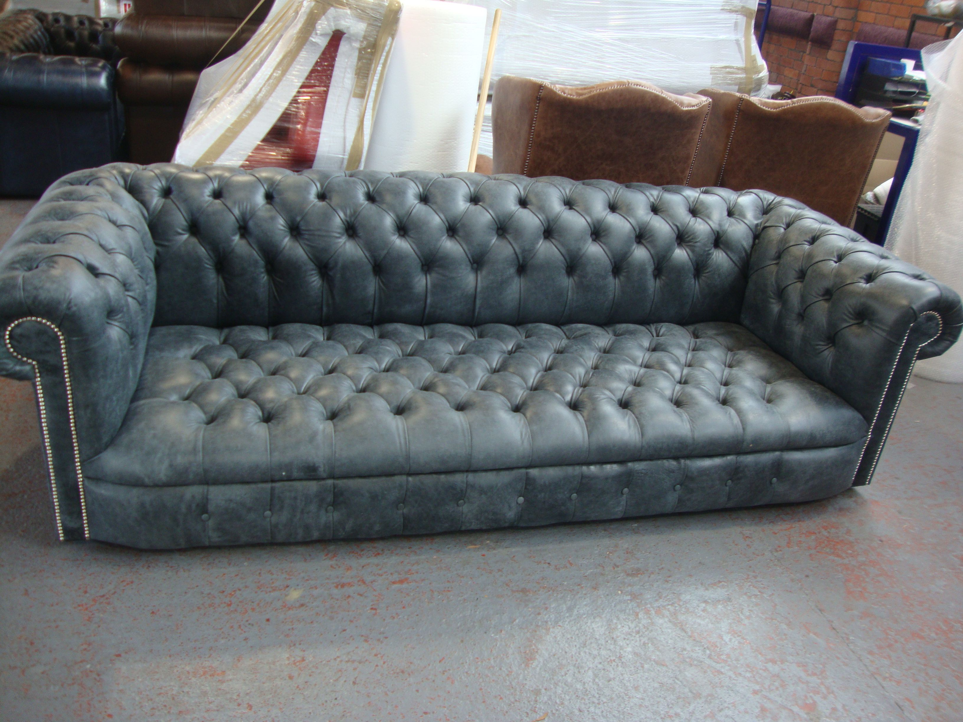 Chesterfield Schlafsofa Kensington Buttoned Tufted Seat Chesterfield 3 Seater Sofa In