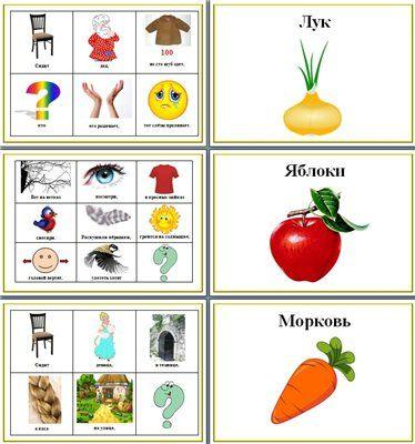 Загадки в модельных таблицах (мнемотаблицах)