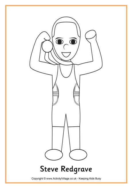 Steve Redgrave Colouring Page Coloring Pages Cool Coloring