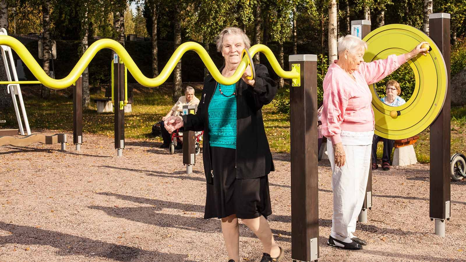 Sport Equipment For Active Ageing Playground Design Parking Design Outdoor Workouts