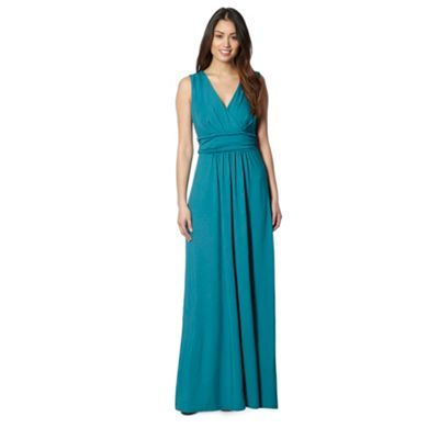 Star by Julien MacDonald Designer dark turquoise jersey maxi dress ...