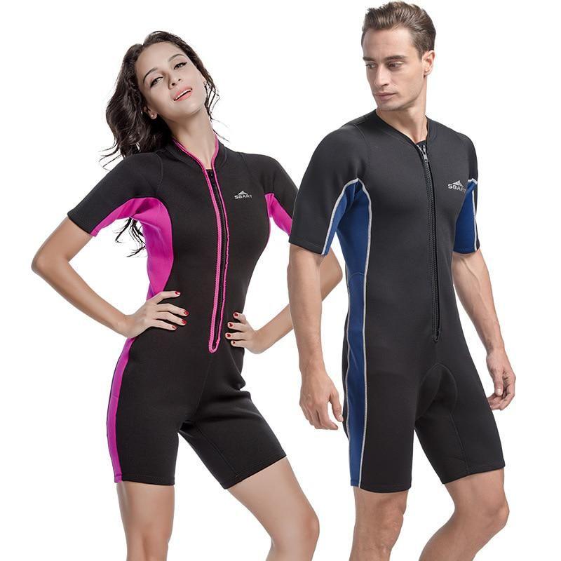 78264d46d8 Sbart 2mm Neoprene Wetsuit Swimwear Women Men One Piece Swimsuit ...