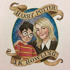 """Melody Howe sur Instagram: «Joyeux anniversaire à Harry Potter et J.K. Rowling! DERNIER JOUR DU DÉFI 🙏🙏🙏🙏🙏😭😭😭😭⚡️ #harrypotter #jkrowling #fanart # anniversaire… """""""
