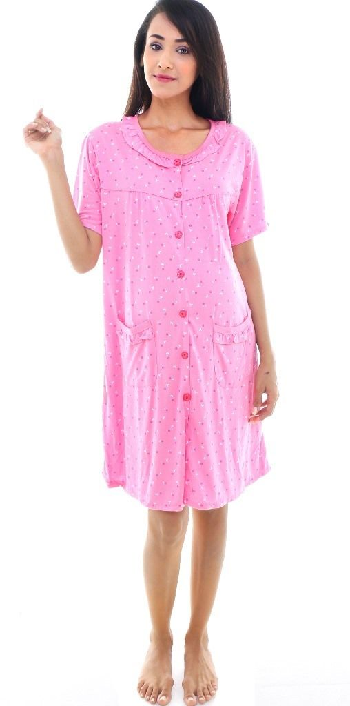 a6a919518475a Contemporary Willow prints nightie in pink. Comfortable maternity and  nursing nightie. #Maternity #