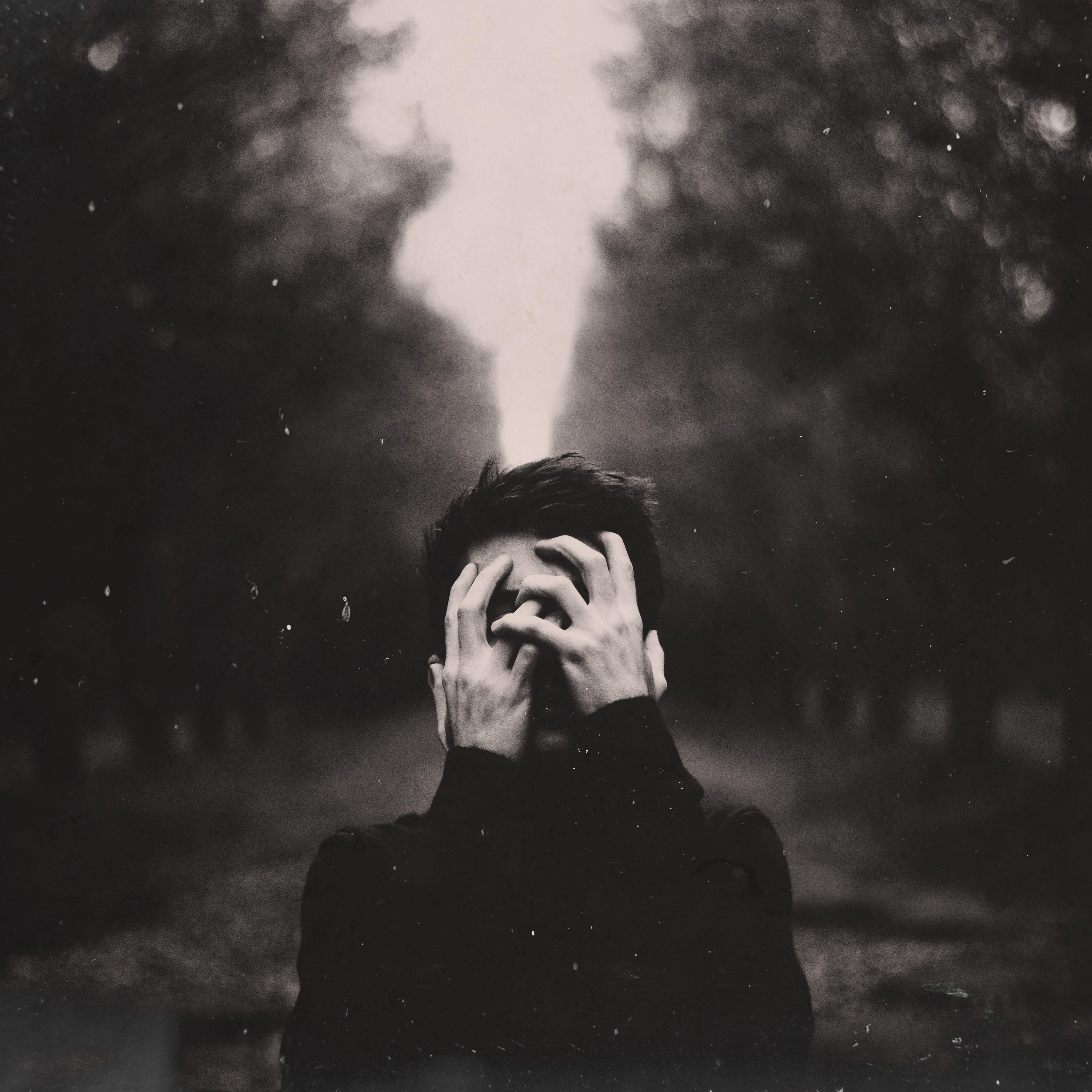 Conceptual black and white portrait by bradley branson conceptual