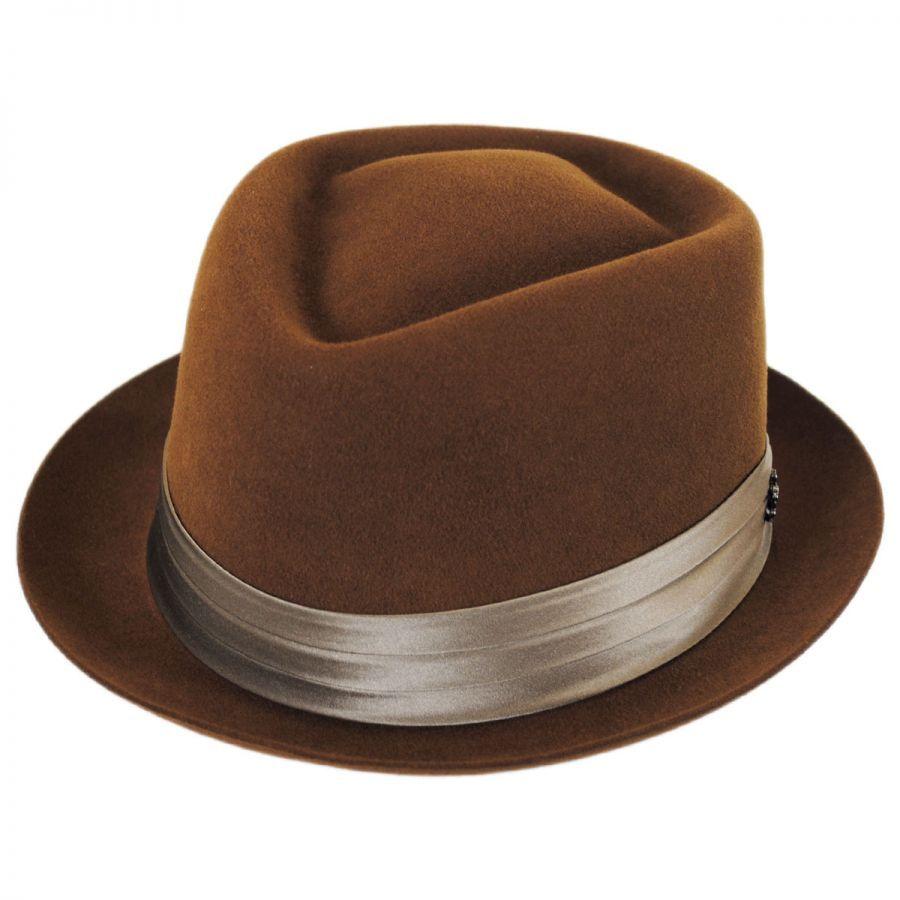 ba2d026a Myers Wool Felt Diamond Crown Fedora Hat | mens hats | Hats, Fedora ...