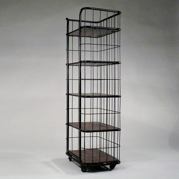 fabrik regal auf rollen vintage industrial vintage industrial rack bakery rack. Black Bedroom Furniture Sets. Home Design Ideas