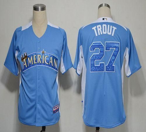 MLB 2012 All Star Los Angeles Angels Mike Trout light blue jersey