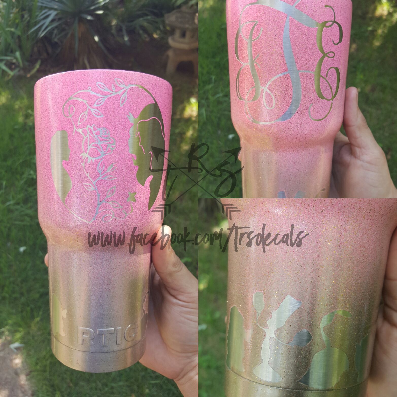 1818d301936 Beauty and the beast customized powder coated rtic yeti cups. | rtic ...