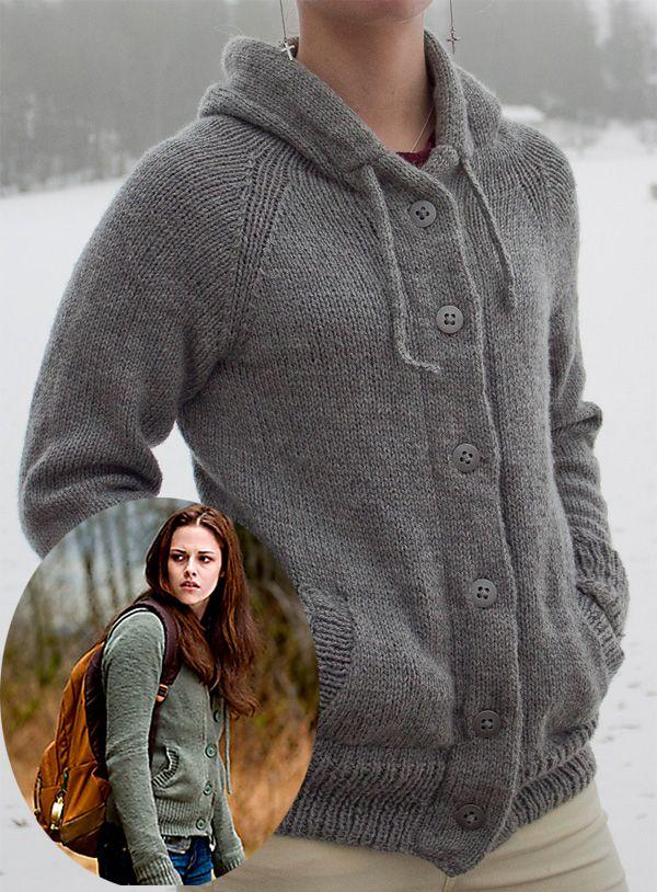 Motivo a maglia gratuito per Twilight Hoodie | maglia | Pinterest