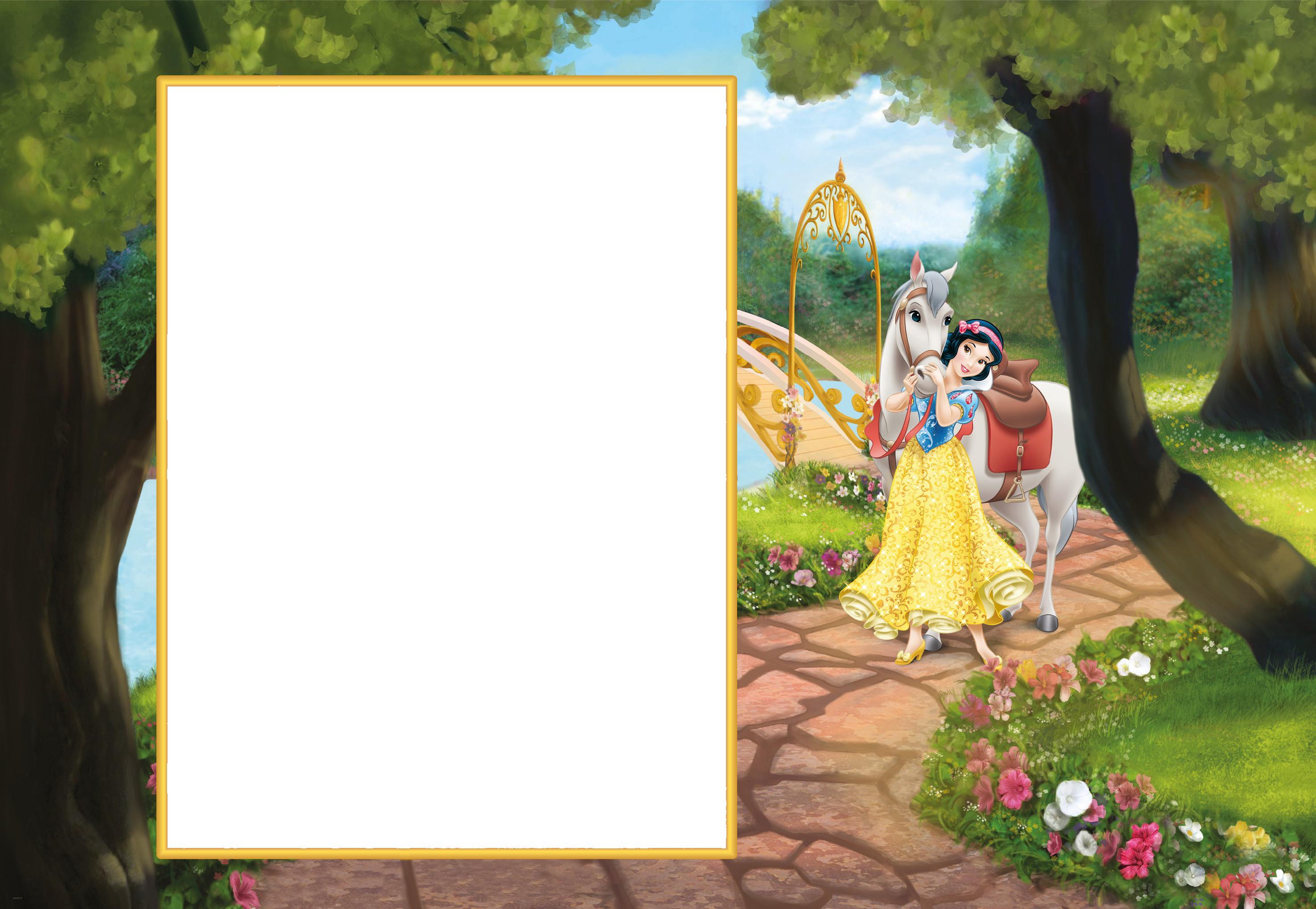 Princess Snow White Cute Transparent PNG Frame Marcos