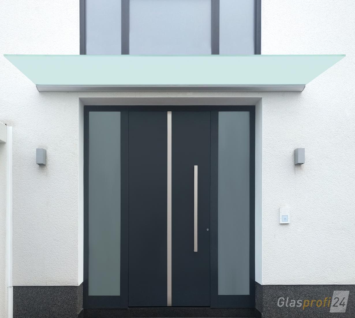 Geräumig Eingangsüberdachung L Form Dekoration Von Vordach Dura Mit Satiniertem Glas, Sich Optimal