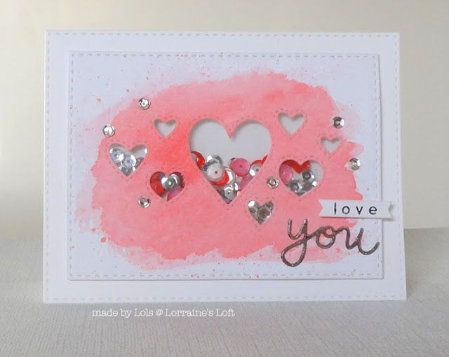 Simon Says Stamp Stitched Heart Collage Heart Collage