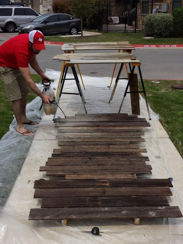 He Took Two Old Fences And Completely Flipped His Living Room Incredible Old Fence Wood Repurposed Fence Panels Old Fence Boards