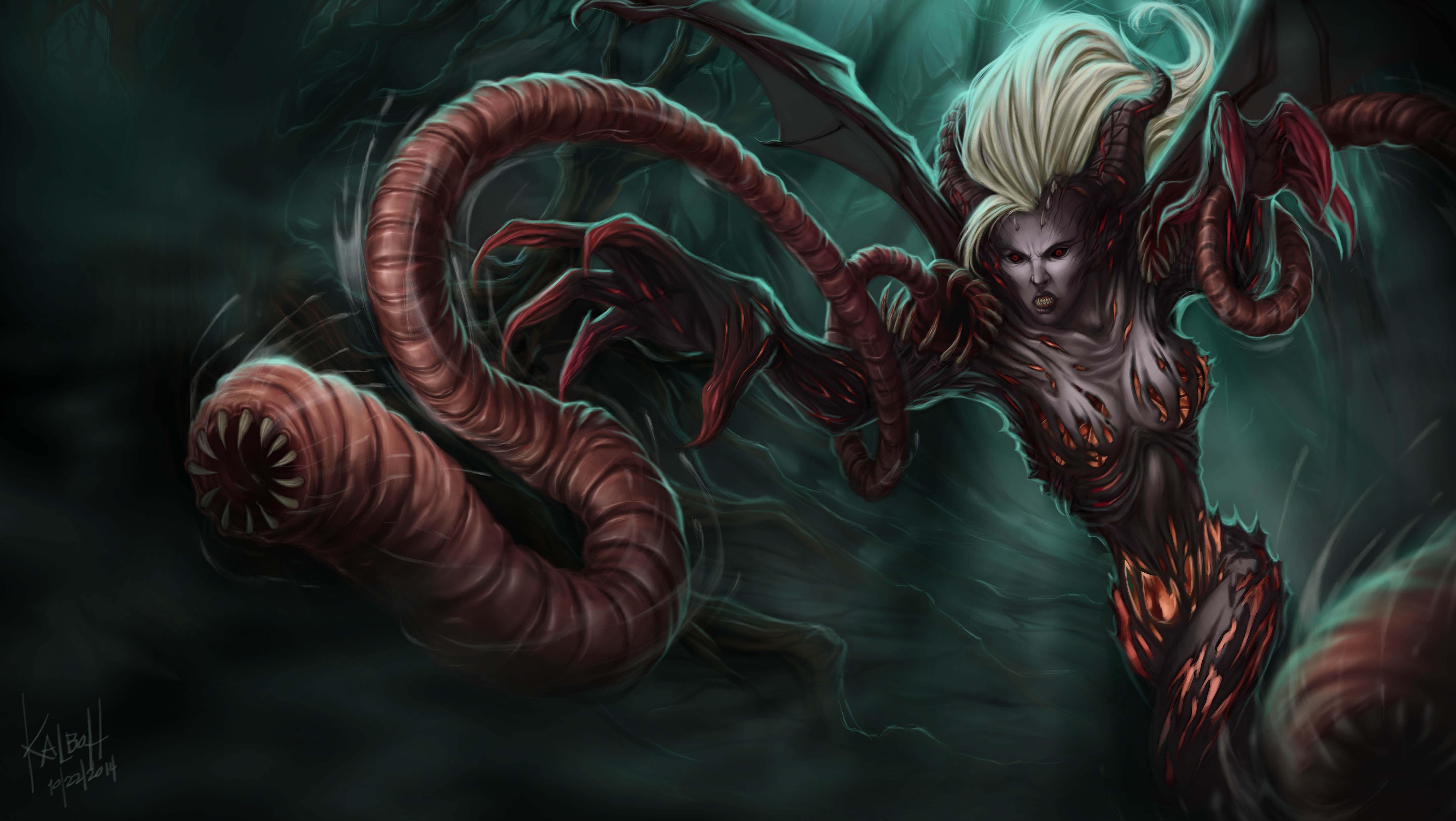 League of Legends Fan art Monstrous Zyra by Jepoykalboh