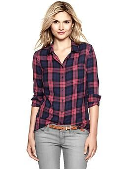 ac48621dd3ff07 Fitted boyfriend flannel shirt