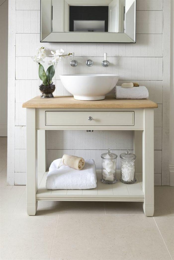 Waschtisch aus Holz und andere rustikale Badezimmer Ideen #decorationequipment