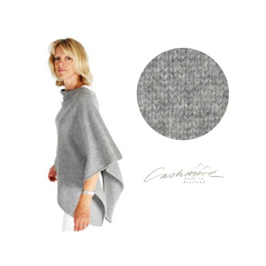 Colour description:A light and dark grey marl making a mid grey  Ageless and timeless the Anise 3 ply 100% pure Scottish cashmere wrap is one size, simply slips over anything from a pair of jeans to a dress, a T-Shirt to a jacket.An absolute essential for travel and is the perfect solution to chilly summer evenings.  The wrap makes a perfect gift and will suit from a size 8 upwards, expectant & nursing mothers.  UK, Europe & International shipping available - with discount on orders over…