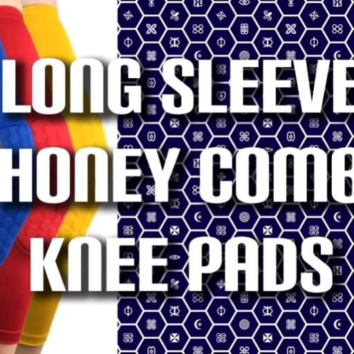 1Pc Long Sleeve Honeycomb Knee Pad - Great Calf Support