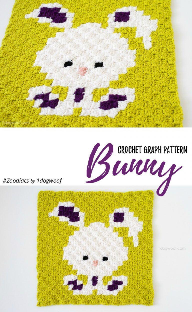 Zoodiacs Bunny Rabbit C2C Crochet Graph | Crochet Fun by Hana Nassif ...