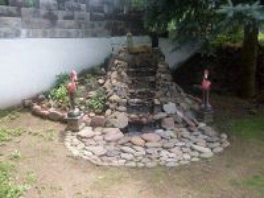 How To Build A Pondless Waterfall | Pool landscaping ...