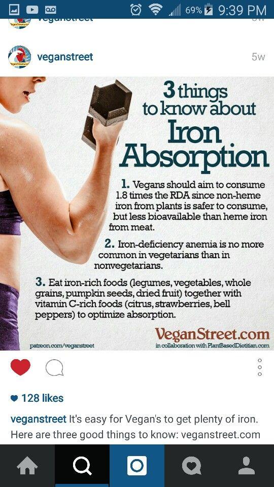 Iron doing it vegan Foods with iron, Vegan, Health tips