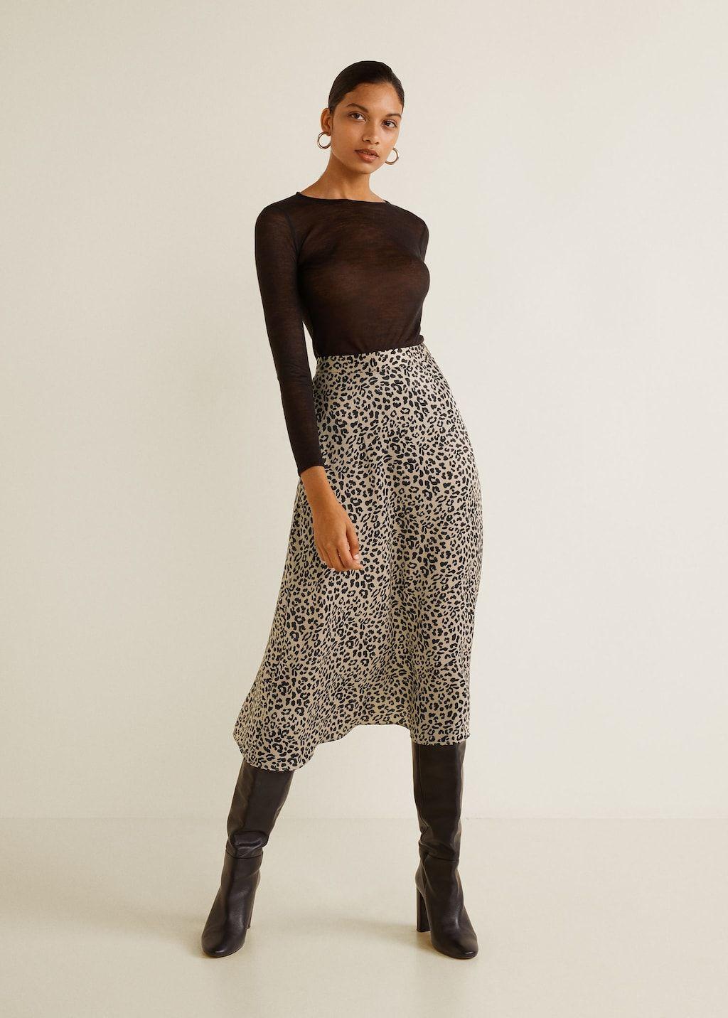 f9c54c2e07 Leopard skirt - Women | Dress me | Leopard skirt, Mango skirts ...