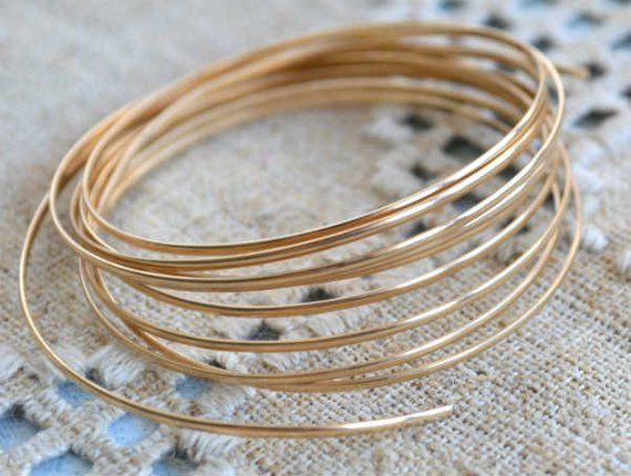 5ft 24 gauge 14k ROSE Gold Filled Round beading wire Dead Soft Wrapping metal