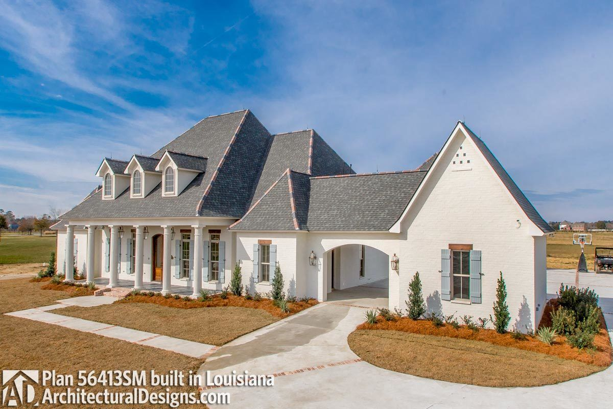 Plan 56413sm Luxury Southern Home Plan With Boat Garage And Many Extras In 2020 Southern House Plans French Country House Acadian House Plans