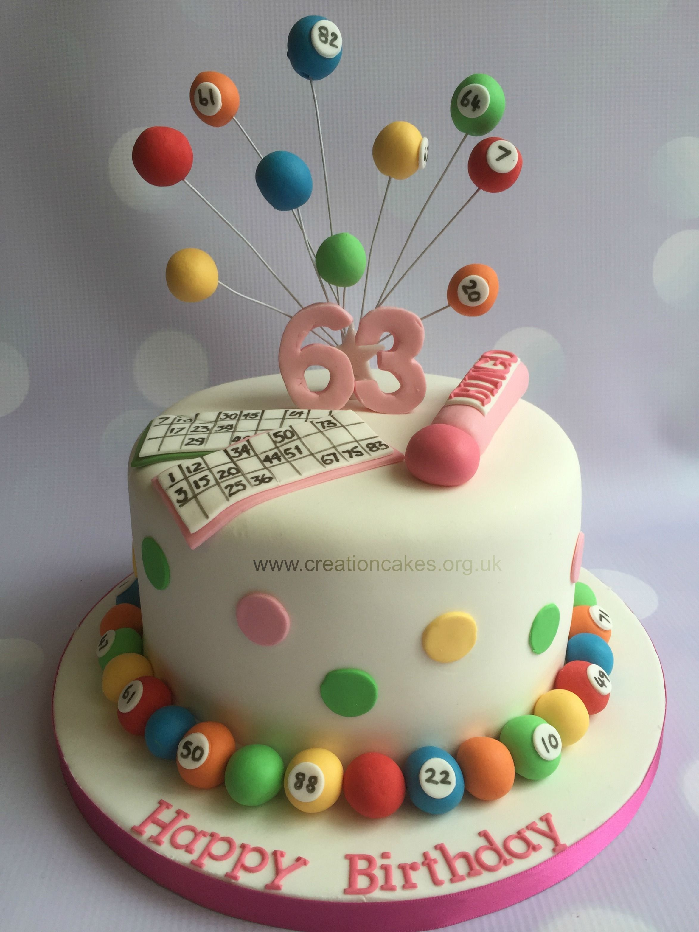 Bingo Burst Cake