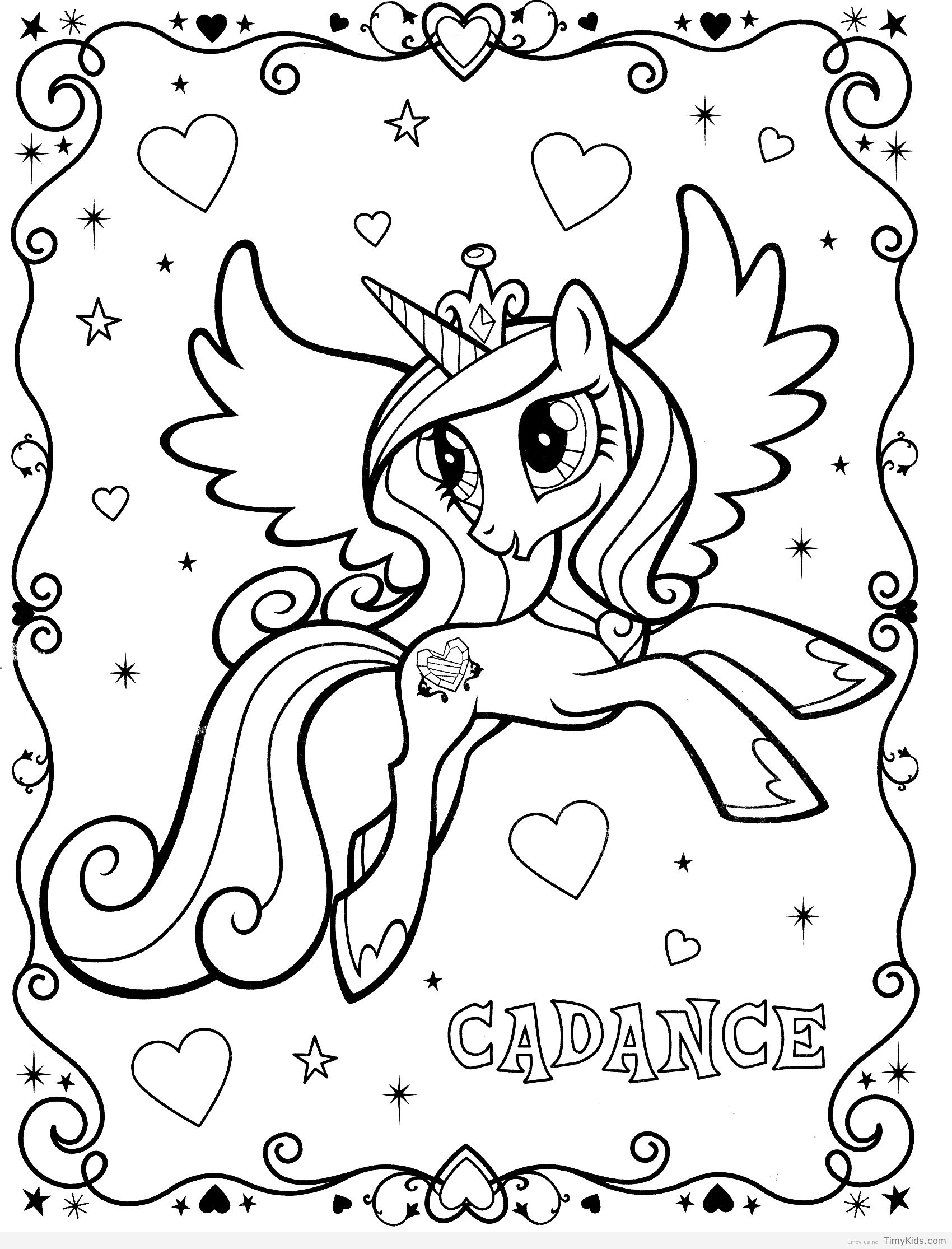 My Little Pony Colouring Sheet Unicorn Coloring Pages My Little