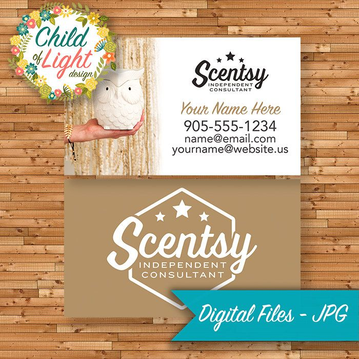 Authorized scentsy vendor business cards custom whoot gold authorized scentsy vendor business cards custom whoot gold owl chic personalized printable reheart Image collections