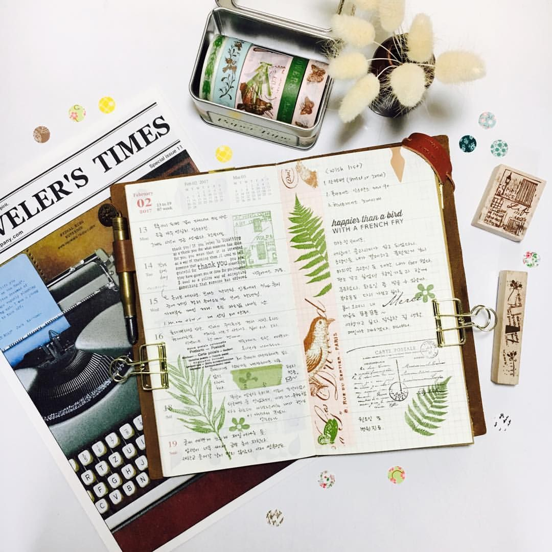 """256 Likes, 3 Comments - @nudobamnamoo on Instagram: """"#travelersnotebook #midori #midoritravelersnotebook #travelersnote #planner #weekly…"""""""