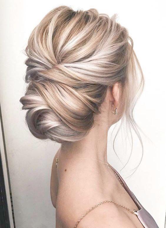 Simple Wedding Hairstyles To The Side Wedding Hairstyles Long Hair Braids Hair Lengths Granny Hair Blonde Updo