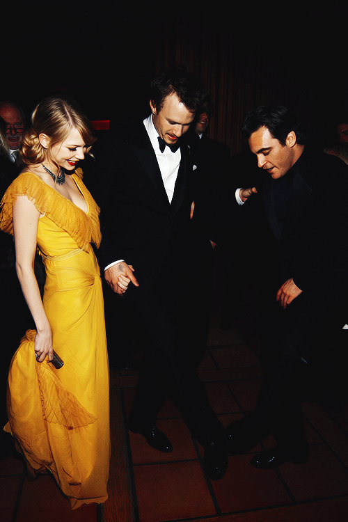 Michelle Williams, Heath Ledger and Joaquin Phoenix at the 78th Academy Awards