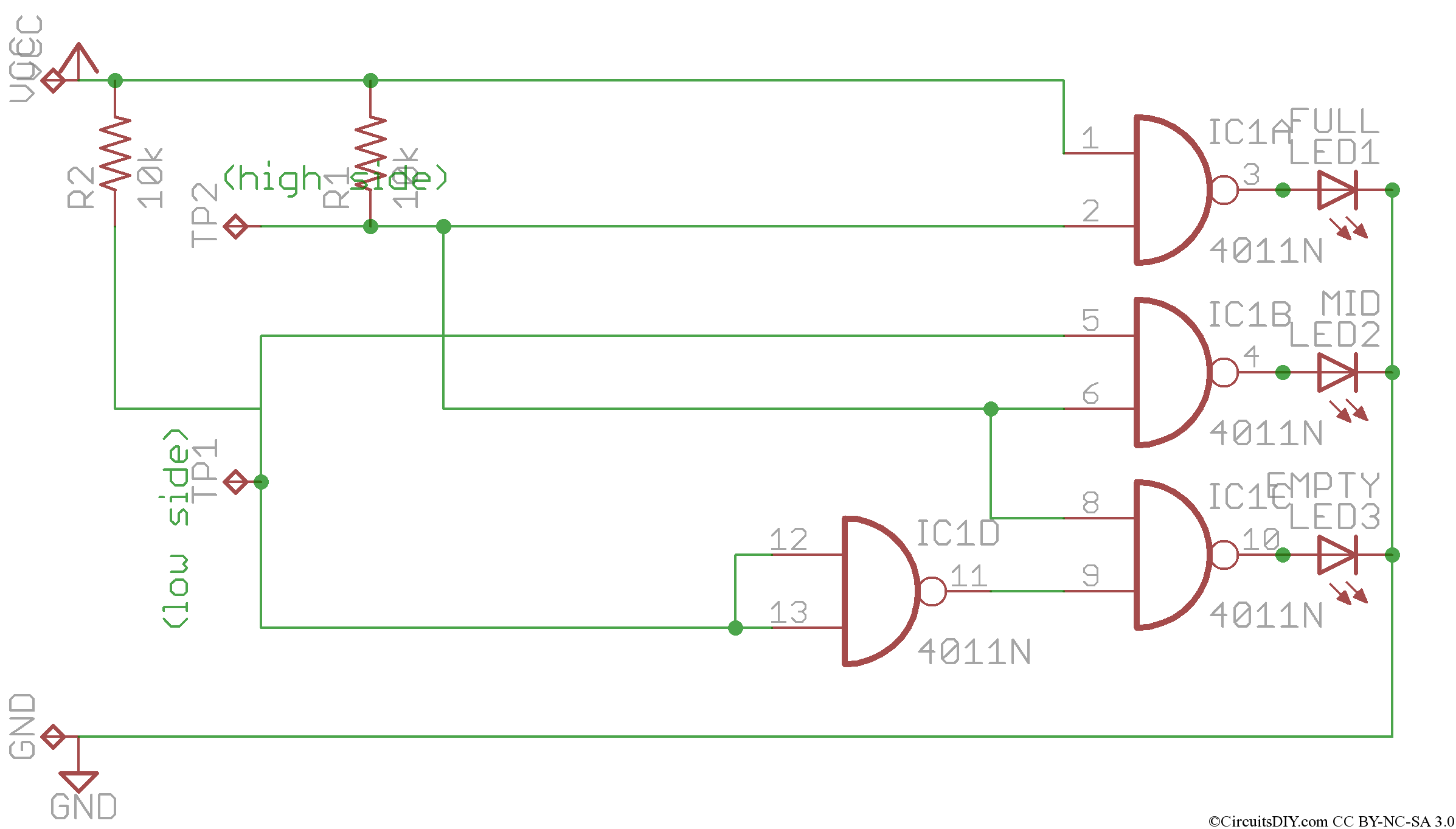 Simple Water Level Indicator Using Logic Ic Circuits Diy Automatic Controller Circuit