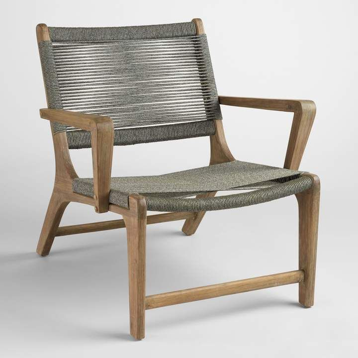 Charmant Cost Plus World Market Gray Rapallo Outdoor Lounge Chair