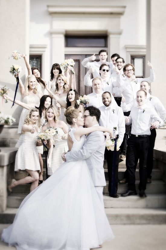 All white wedding party inspiration from Steve Cross Wedding Photography